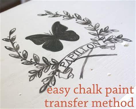 chalk paint easy easy chalk paint transfer method diy home decor