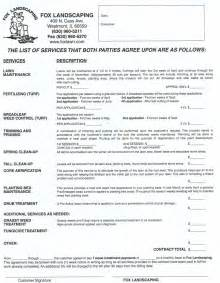 landscaping contract get the right contract landscaping