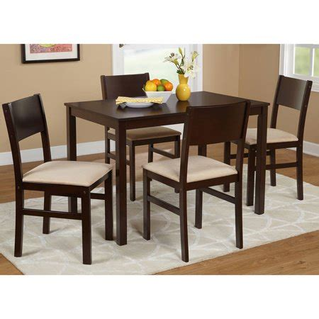 walmart dining table set lucca 5 dining set colors walmart com