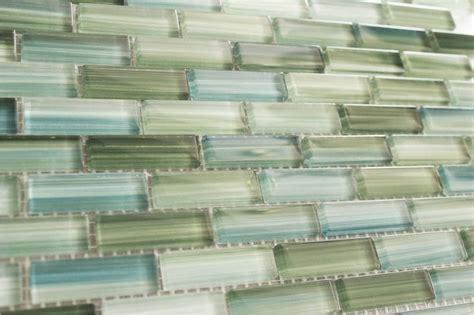 green glass tiles for kitchen backsplashes green blue white subway glass mosaic tile kitchen backsplash bathroom shower mosaics home