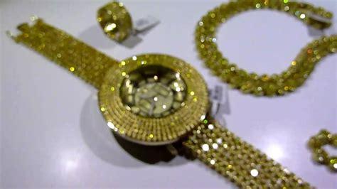 "LEMONADE COMBO #2! Lab Made YELLOW Diamond ""Watch Chain 360 Ring"" video   Gucci Mane jewelry"