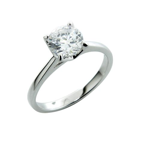 Verlobungsringe Silber Mit Diamant by Sterling Silver Engagement Ring