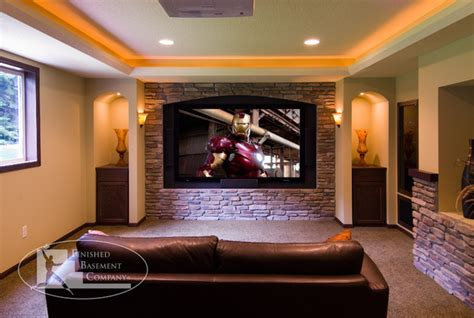 basement home theater traditional home theater