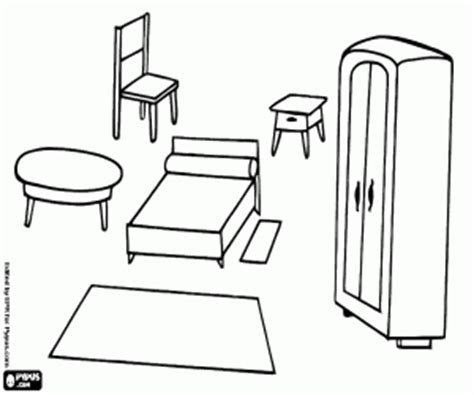 coloring pages furniture house household coloring pages printable games