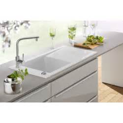 white kitchen sink faucets villeroy boch timeline 60 single bowl 1000mm x 510mm white ceramic inset kitchen sink 6790 00