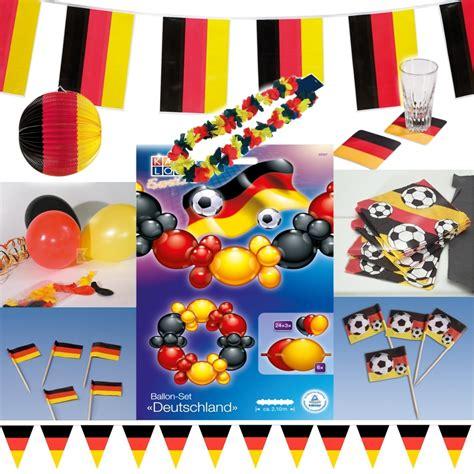 deutschland deko fussball deko schwarz rot gelb - Deutschland Deko