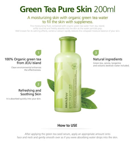 Toner Innisfree innisfree pre order skin care 3 green tea series