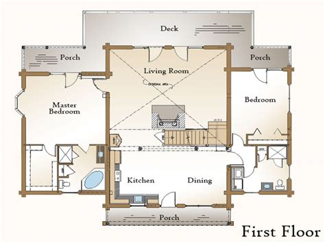 cabin floor plans with walkout basement log home plans with open floor plans log home plans with