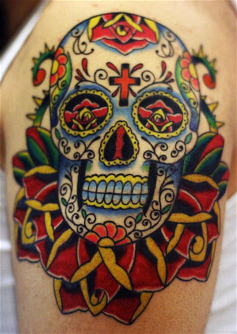 traditional mexican tattoo designs sugar skull sombrero studio design gallery
