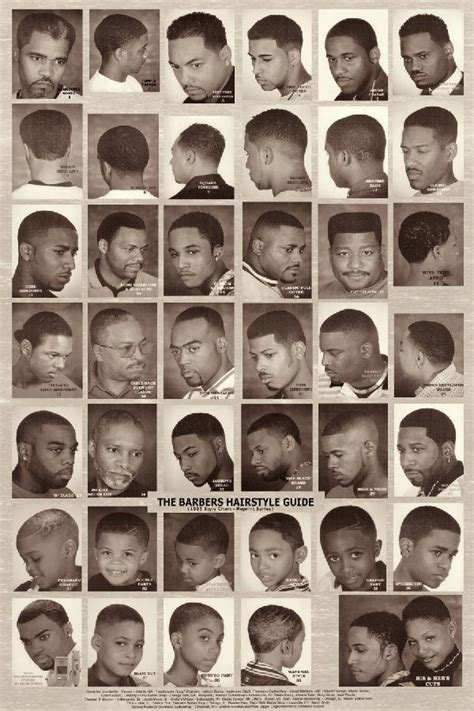 barbers hairstyle guide the barber hairstyle guide black white poster rubinov s