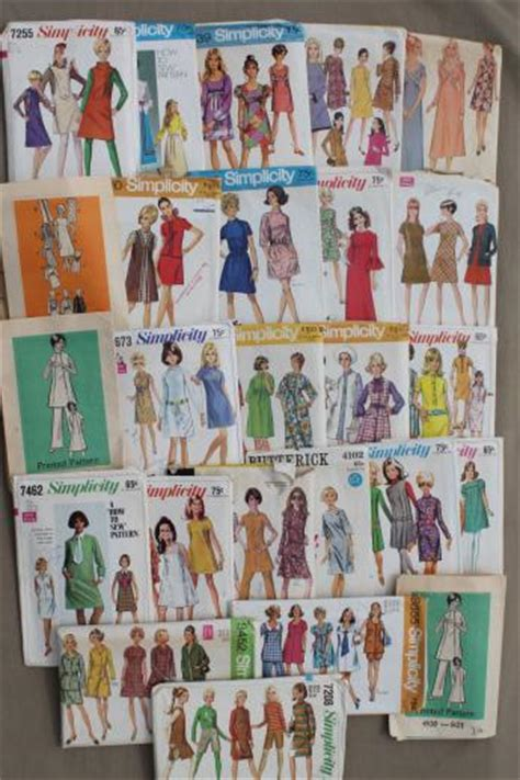vintage pattern lot vintage sewing patterns lot 60s 70s mod dresses mini