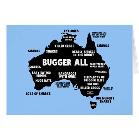 funny aussie map card zazzle