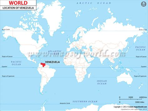 caracas on world map where is location of