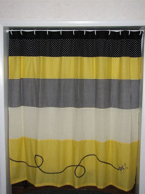 Black And Yellow Valance Yellow And Black Bumble Bee Curtain