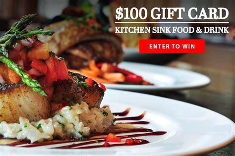 Kitchen Sink Drink by Win A 100 Gift Card To Kitchen Sink Food Drink In