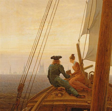 metal on metal caspar david friedrich 1774 1840 on board a sailing ship painting by caspar david friedrich