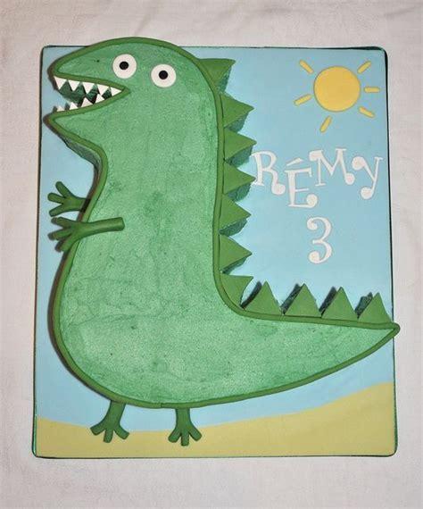 george s dinosaur birthday cake by thecustomcakeshop via