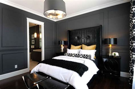 black and gray bedroom 15 refined decorating ideas in glittering black and gold