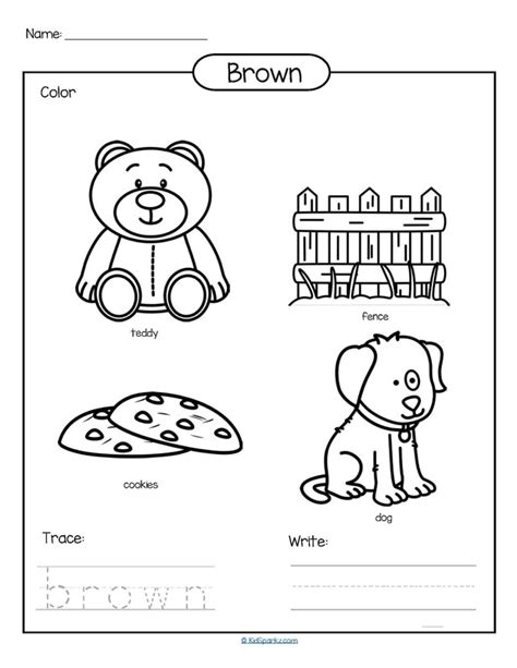 Color Brown Worksheets Sketch Coloring Page Coloring Pages Brown