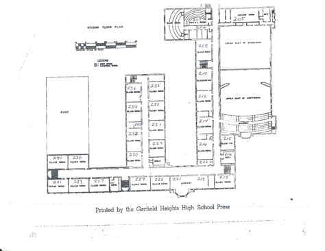 high school floor plan garfieldheightshigh1962 template