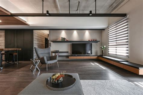 industrial modern apartment interior design troondinterior taiwanese apartment by aya living uses a beautiful mix of