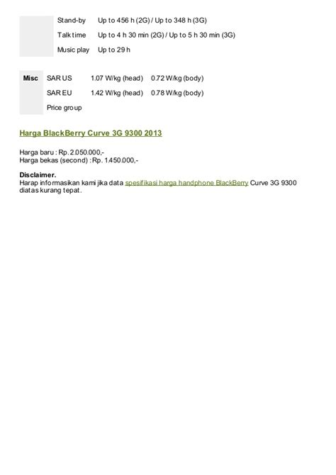 Hp Blackberry Curve 9300 spesifikasi blackberry curve 3g 9300
