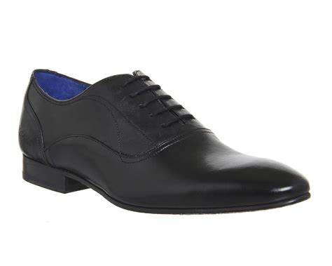 mens ted baker mapul lace up black leather formal shoes