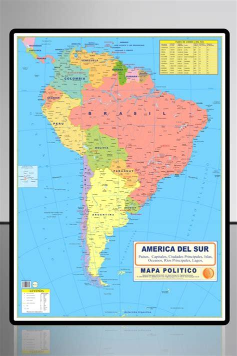 mapa topografico america sur america sur politico mapas escolares