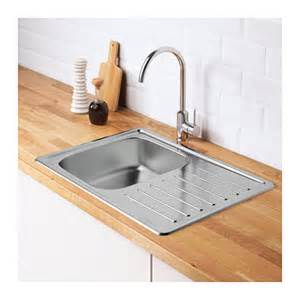 fyndig inset sink 1 bowl with drainboard stainless steel 70x50 cm ikea