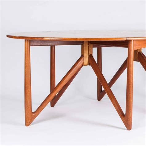 teak drop leaf dining table by designed by kurt 216 stervig