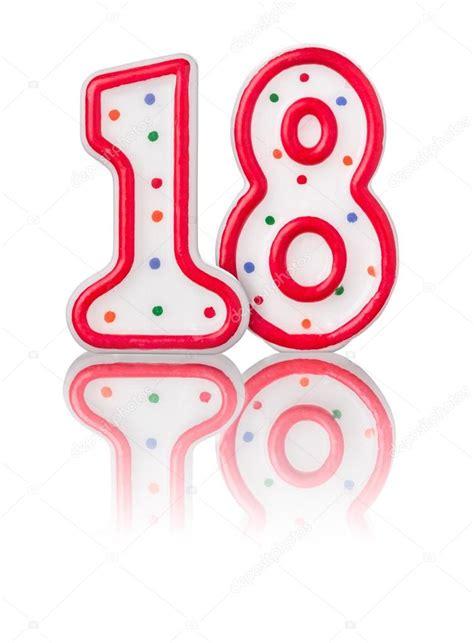 imagenes de cumpleaños numero 18 rojo n 250 mero 18 con reflexi 243 n foto de stock 169 zerbor