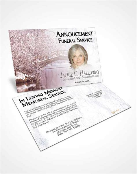 memorial card template sunset bifold order of service obituary template brochure sunset