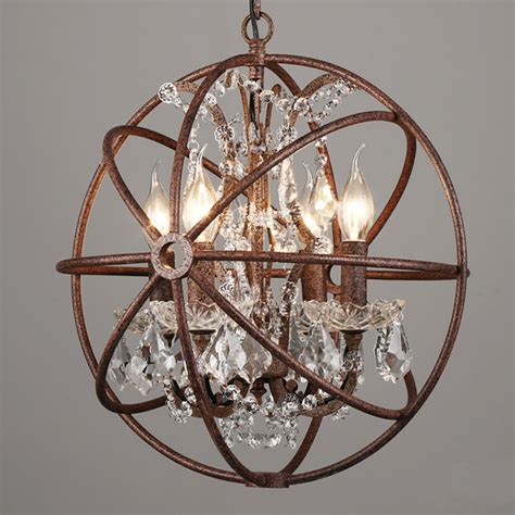 iron sphere light fixture sphere light fixture 4568 lights rustic iron crystal orb