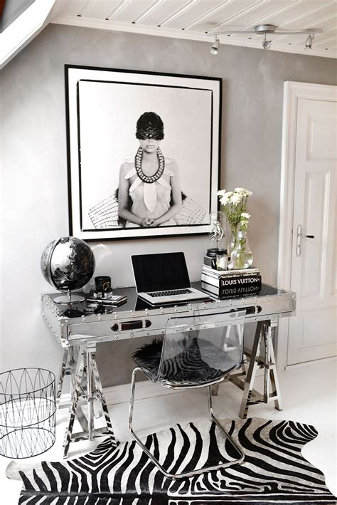 home office decorating  glamour posh organization