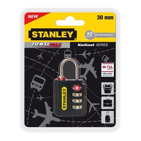 cadenas tsa stanley cadenas de voyage stanley 224 combinaison 3 chiffres avec