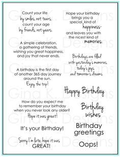 Card Verses For Handmade Cards - birthday card quotes for