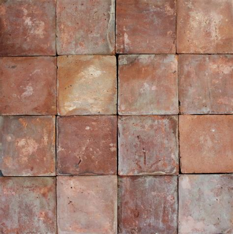 Primitive Bathroom Ideas 100 sq ft reclaimed french terracotta 6 quot square red