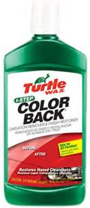 turtle wax color back turtle wax 174 1 step color back 16 oz turt 270r1