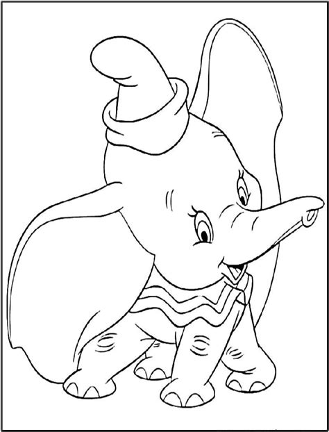 Dumbo Baby Elephant Coloring Pages Dumbo Coloring Pages