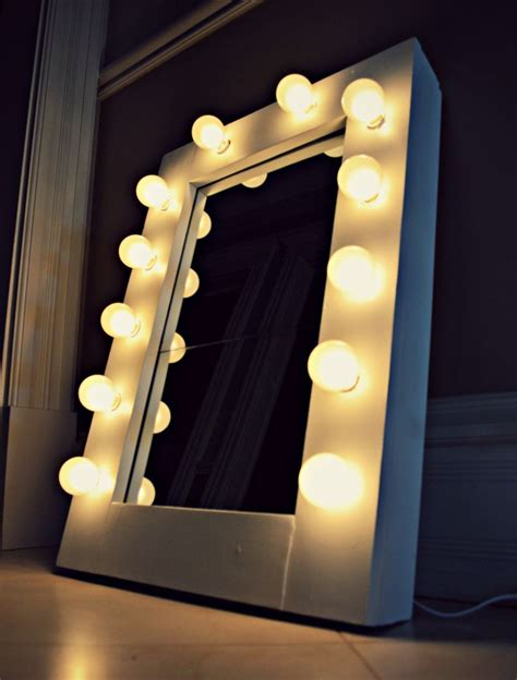 Vanity Mirror With String Lights Pin By Kamins On Diy