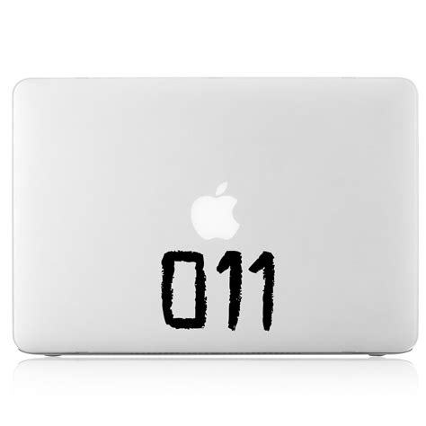 Wallpaper Sticker 011 eleven 011 viny decal sticker for apple macbook air
