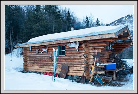 The Nugget Cabin by Nugget Creek Cabin Winter Wrangell St Elias National