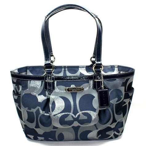 blue handbags blue coach satchel purse