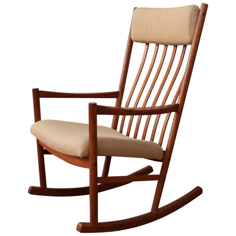 rocker bench danish teak rocking chair