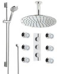 thermostatic shower system with multi function shower