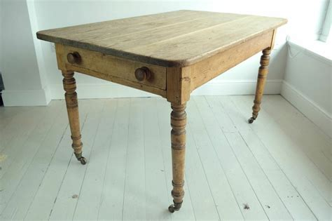 antique rustic pine dining kitchen table with