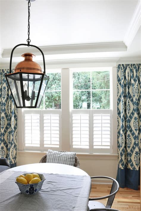 drapes with plantation shutters new plantation shutters the inspired room