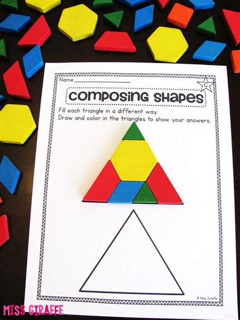 geometric pattern games composing shapes in 1st grade activities and ideas galore