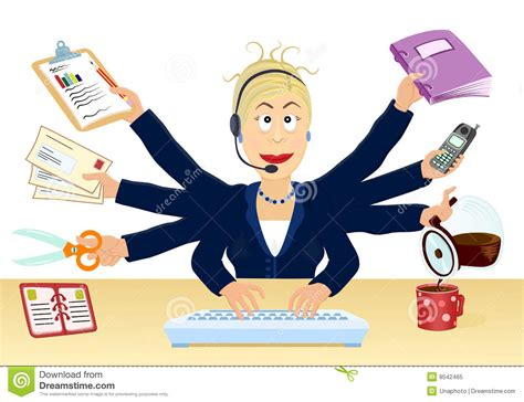 Adminstrative Professional Multitasking Office Clipart