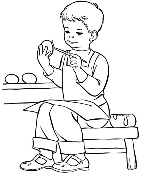 Free Printable Boy Coloring Pages For Kids Coloring Pages Of A Boy